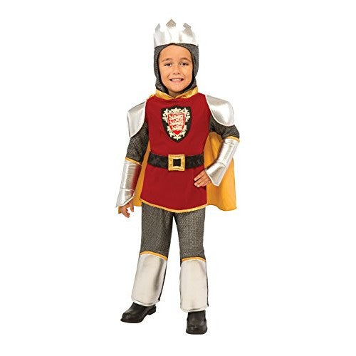 Deluxe Child Warrior King Costume, Medieval Knight - Nevermore Costumes