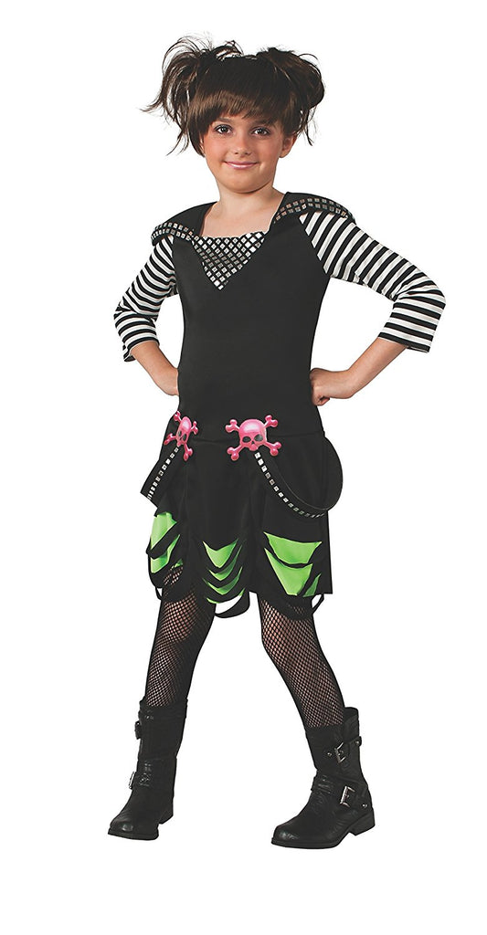 Goth Rock Star Costume Dress, Child - Nevermore Costumes
