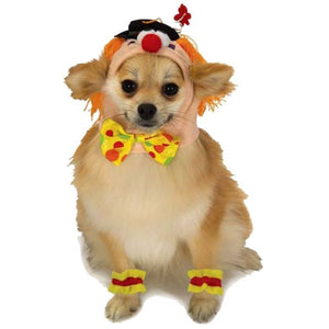 Clown Headpiece with Cuffs, Pet Costume