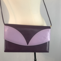 J. Renee Purple and Lavender Leather Purse