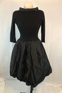 "Vintage Jonny Herbert Original 50s Black Bubble Dress, XS Bust 34"" Waist 24"""