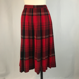 Pendleton Sz 16 Classic Red Plaid Pleated Skirt