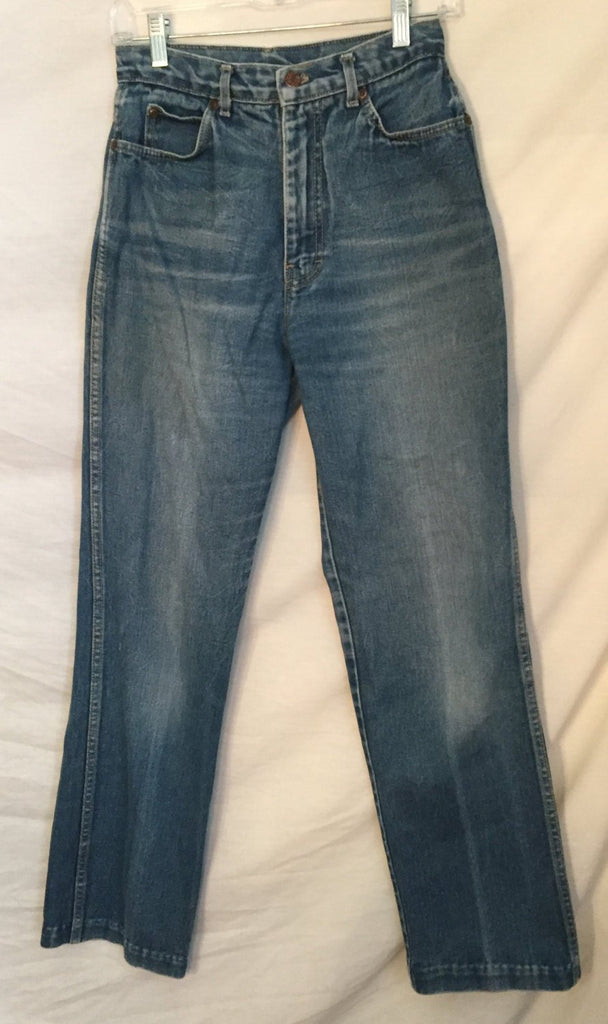 1980's Calvin Klein High Waisted Denim jeans size 10 Vintage Wash - Nevermore Costumes