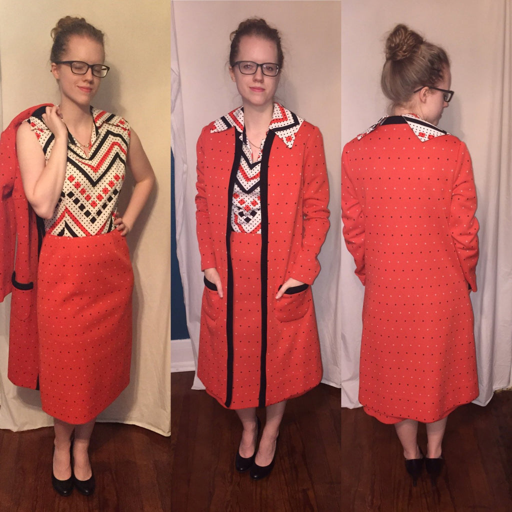 Vintage 1960's Nardis of Dallas Dress and Coat duo, suit 60's Mad Men - Nevermore Costumes