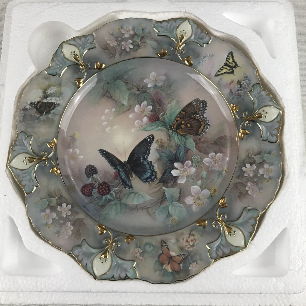Bradford Exchange Lena Liu's Jewels of the Garden Butterfly Enchanted Wings Plate