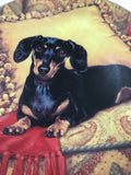 Christopher Nick Danbury Mint Dachshund Oh So Comfy Collector Decorative Plate