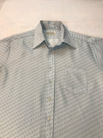 Vintage Kmart Permanent Press Mens Shirt Retro 70's Geometric Short Sleeve