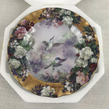 Bradford Exchange Lena Liu's Delicate Treasures Bountiful Beauty Hummingbird Plate