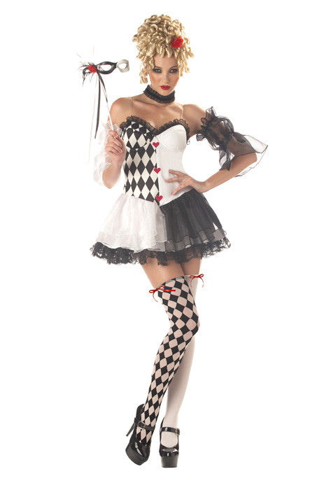 Le Belle Harlequin Costume - Nevermore Costumes