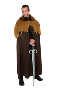 Mens Medieval Warrior Cloak - Nevermore Costumes
