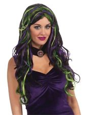 Spell Bound Wig, Black Green and Purple - Nevermore Costumes