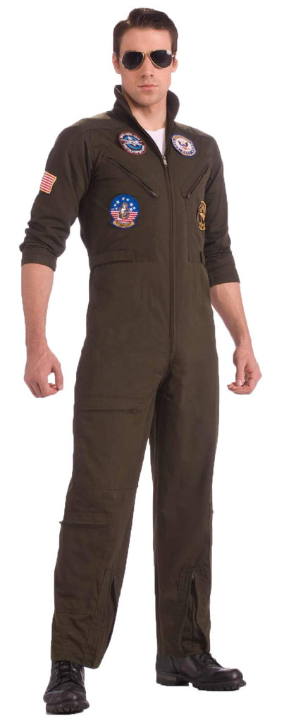 Top Gun US Navy Adult Flight Suit Costume, Plus Size - Nevermore Costumes