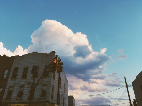 bushwick brooklyn sky street clouds ana banana swim blog