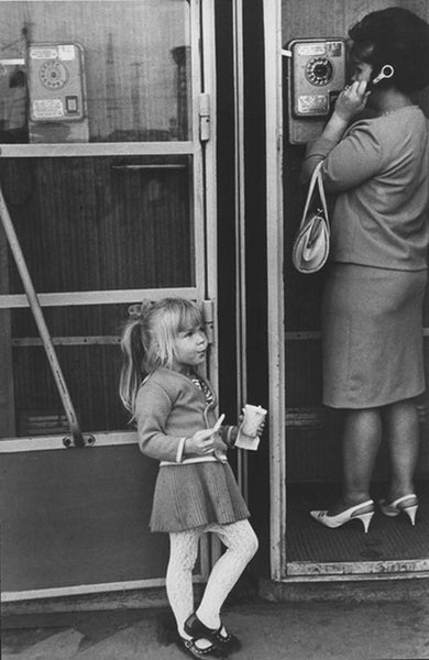 kid and telephone booth by Nina Sviridov and Dmitry Vozdvyzhensky