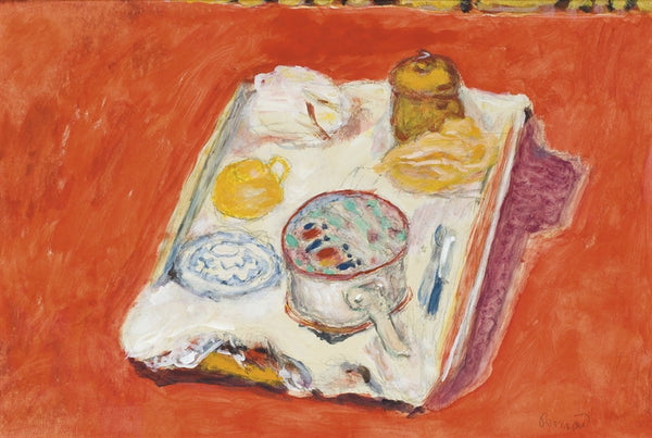Pierre Bonnard, Nature morte au fond rouge