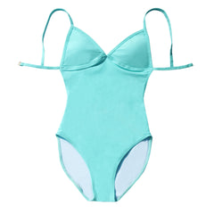 mint blue classic daily one piece ana banana swim