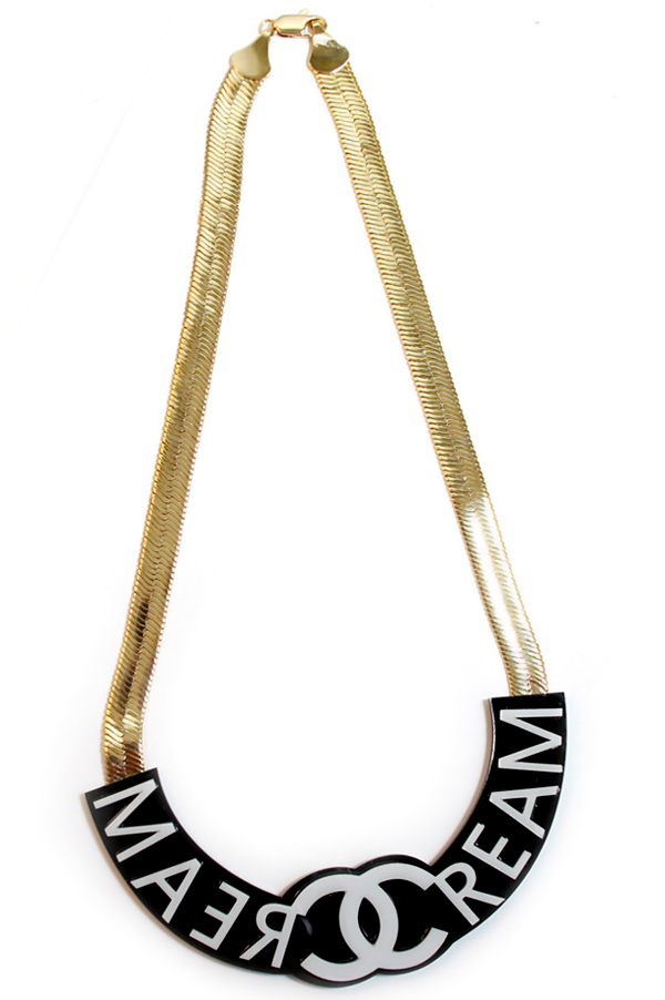 Wutang Cash Rule$ Every+hing Around Me Herringbone Necklace - Rich Girl's Closet