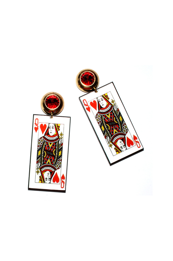 QUEEN OF HEARTS Earrings - Rich Girl's Closet