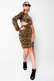 SAMPLE SALE Power of a Woman Leopard Dress - Rich Girl's Closet - 4