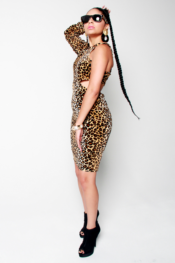 SAMPLE SALE Power of a Woman Leopard Dress - Rich Girl's Closet
