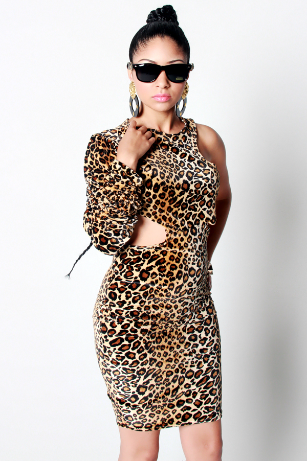 SAMPLE SALE Power of a Woman Leopard Dress - Rich Girl's Closet - 10