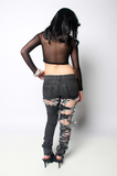 SAMPLE SALE Painted Ego Rip Denim Jeans - Rich Girl's Closet