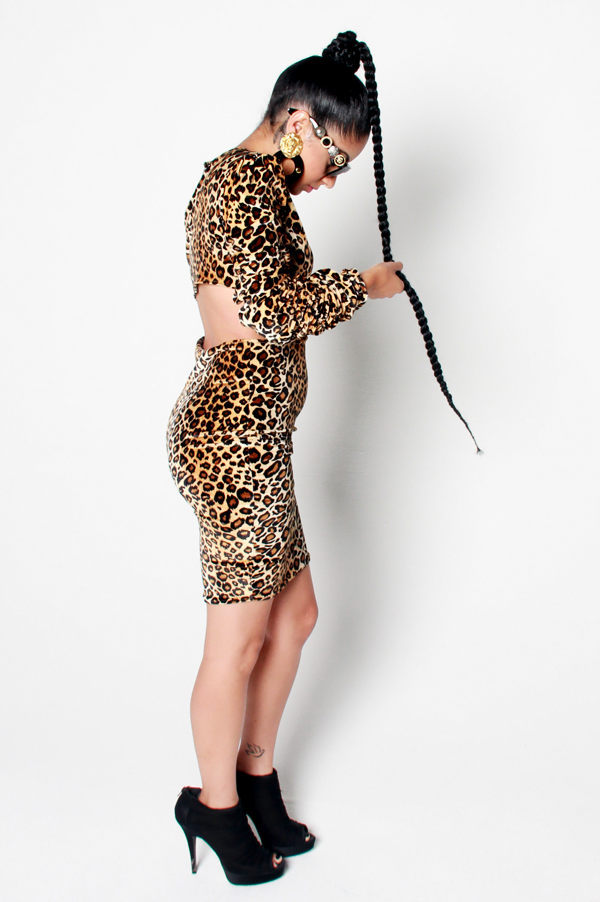 SAMPLE SALE Power of a Woman Leopard Dress - Rich Girl's Closet - 11