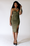 Olive Sweetheart Dress - Rich Girl's Closet - 10