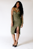Olive Sweetheart Dress - Rich Girl's Closet - 9