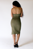 Olive Sweetheart Dress - Rich Girl's Closet