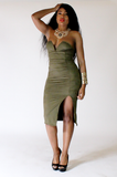 Olive Sweetheart Dress - Rich Girl's Closet - 3