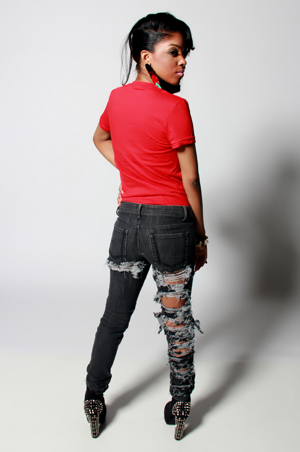 SAMPLE SALE Painted Ego Rip Denim Jeans - Rich Girl's Closet - 14