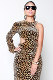 SAMPLE SALE Power of a Woman Leopard Dress - Rich Girl's Closet - 5