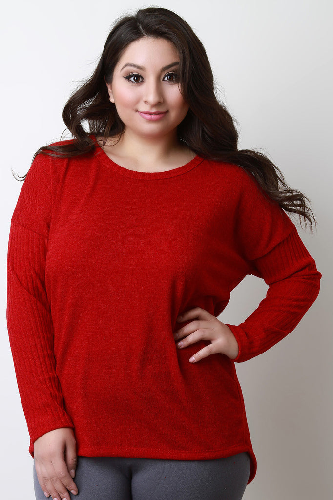 Button Back Sweater Top - Rich Girl's Closet - 10