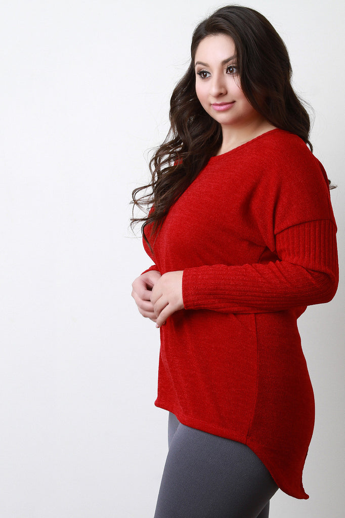 Button Back Sweater Top - Rich Girl's Closet - 11