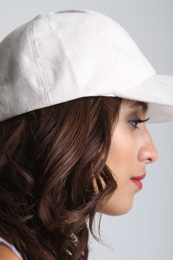 Vegan Suede Baseball Cap - Rich Girl's Closet - 8