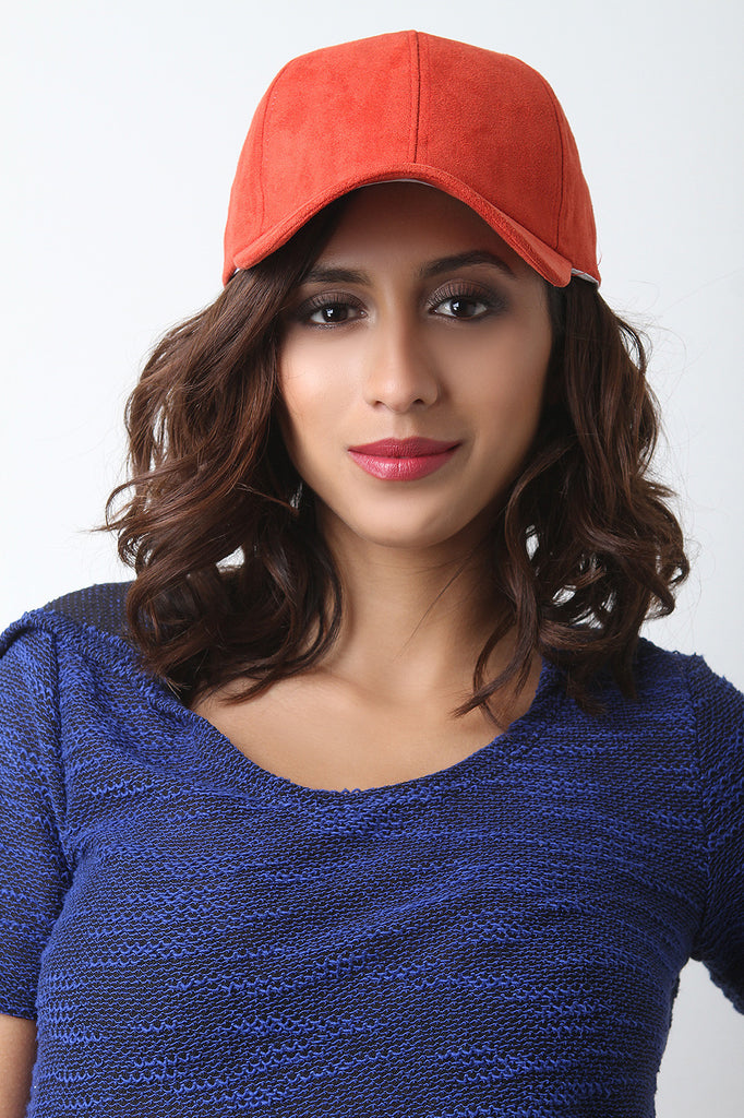 Vegan Suede Baseball Cap - Rich Girl's Closet - 3