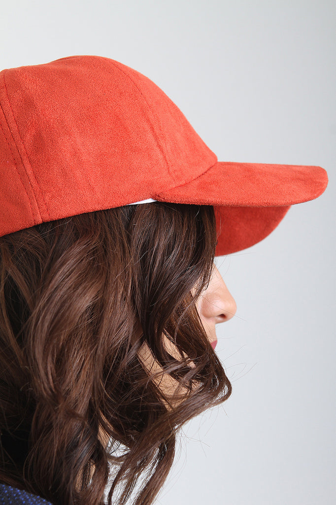 Vegan Suede Baseball Cap - Rich Girl's Closet - 4