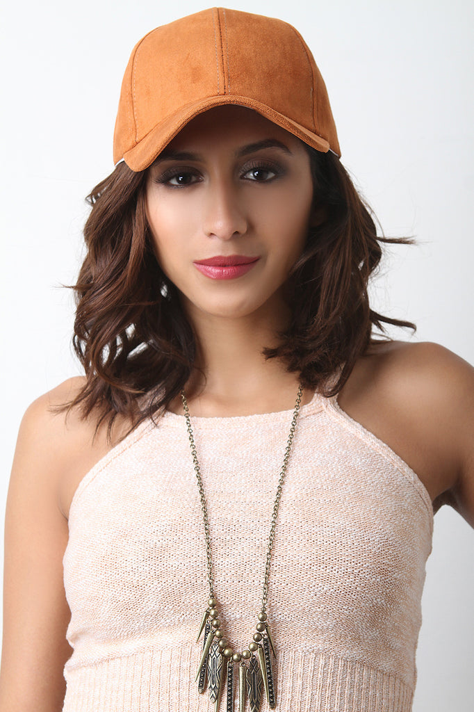 Vegan Suede Baseball Cap - Rich Girl's Closet - 1