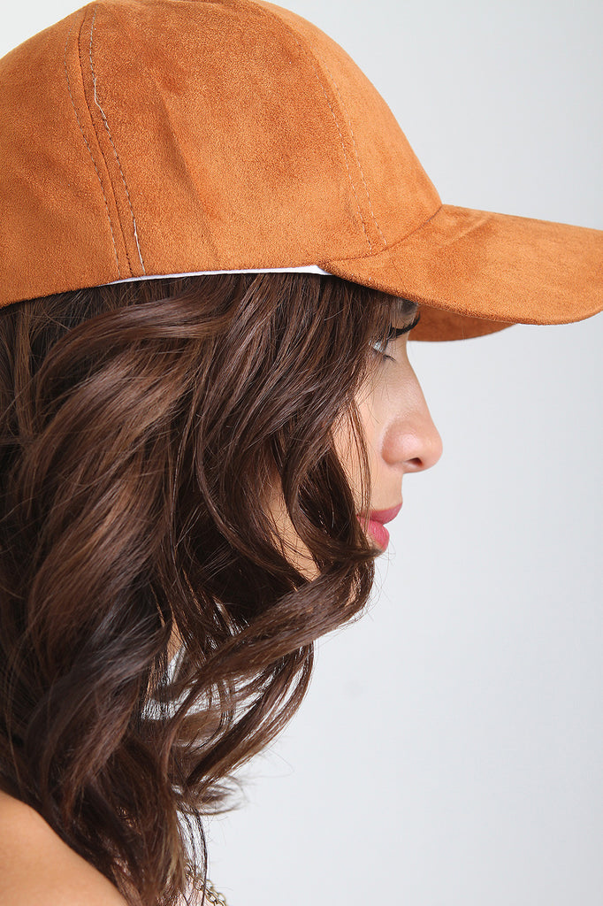 Vegan Suede Baseball Cap - Rich Girl's Closet - 2