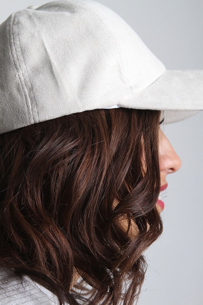 Vegan Suede Baseball Cap - Rich Girl's Closet - 6