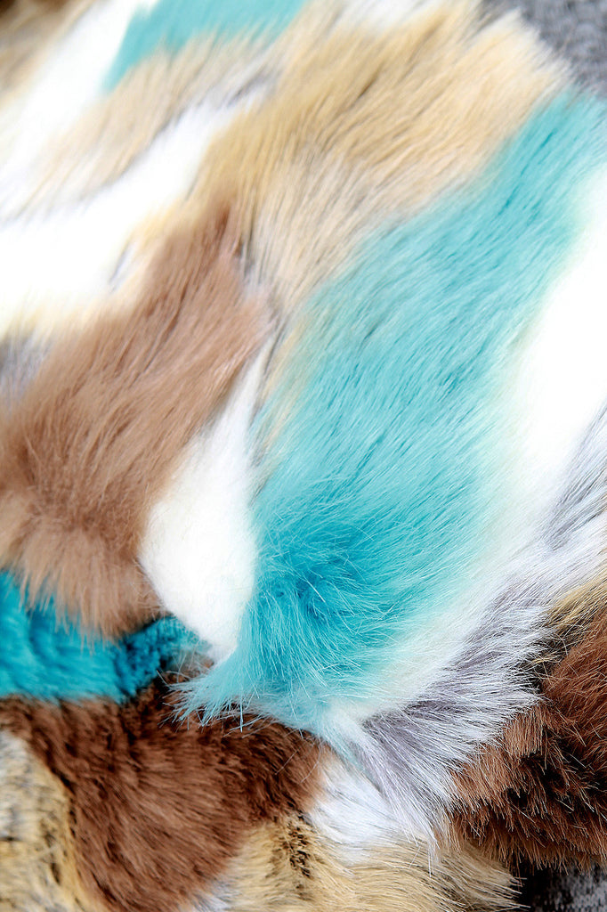 Colorful Fur Scarf - Rich Girl's Closet - 14
