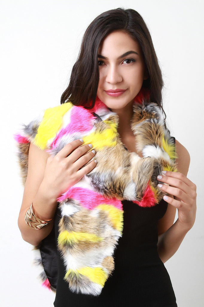 Colorful Fur Scarf - Rich Girl's Closet - 11