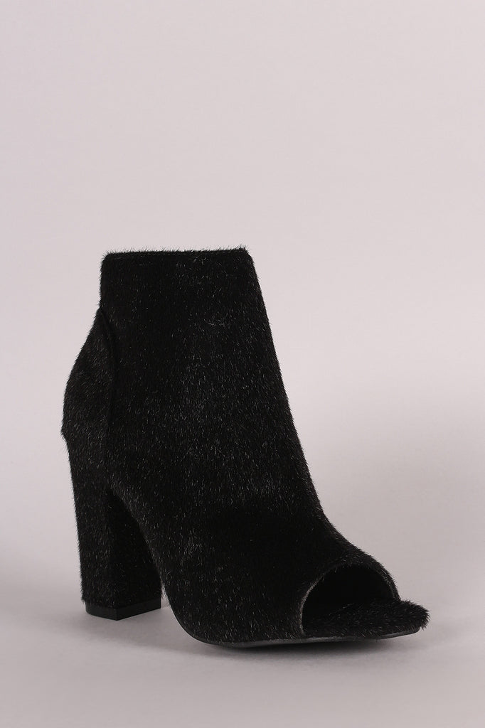 Vegan Calf Hair Ankle Boots - Rich Girl's Closet - 11