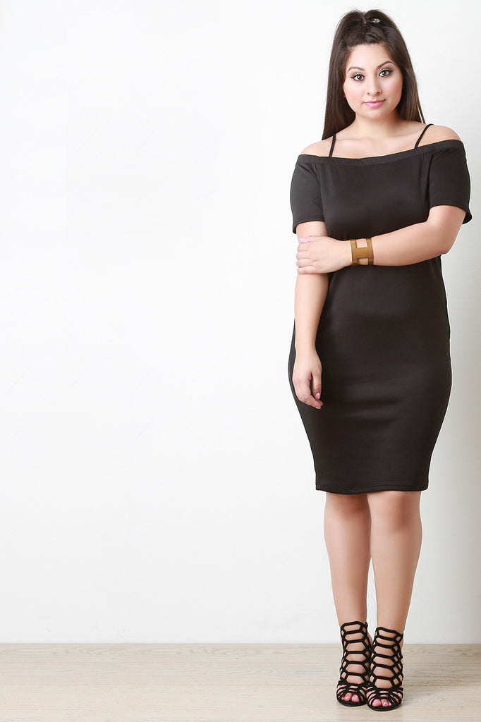 Off the Shoulder Bodycon Dress - Rich Girl's Closet - 3