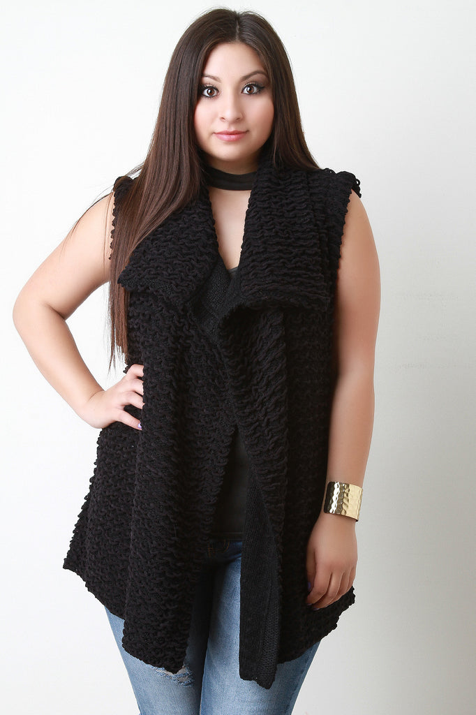 Pulled Knit Sweater Vest - Rich Girl's Closet - 11