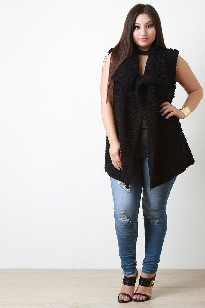 Pulled Knit Sweater Vest - Rich Girl's Closet - 13