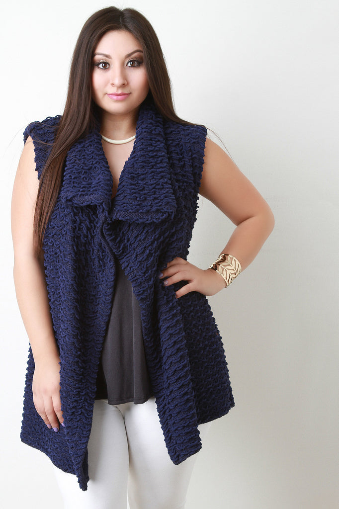 Pulled Knit Sweater Vest - Rich Girl's Closet - 4