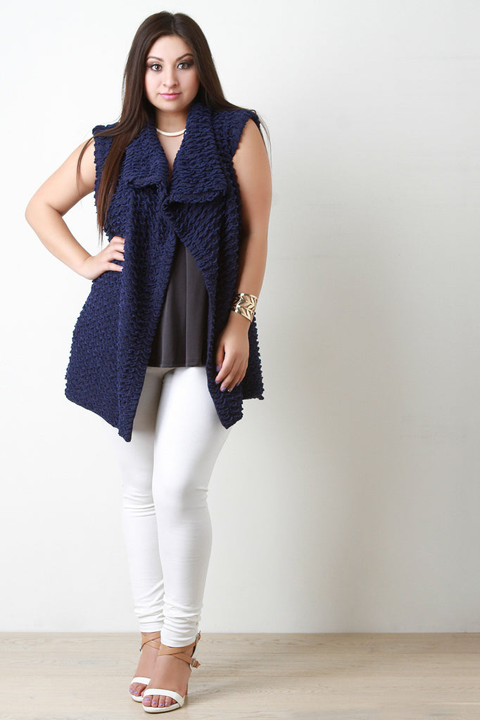 Pulled Knit Sweater Vest - Rich Girl's Closet - 6