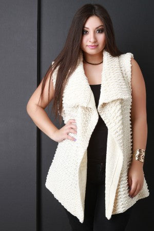 Pulled Knit Sweater Vest - Rich Girl's Closet - 7